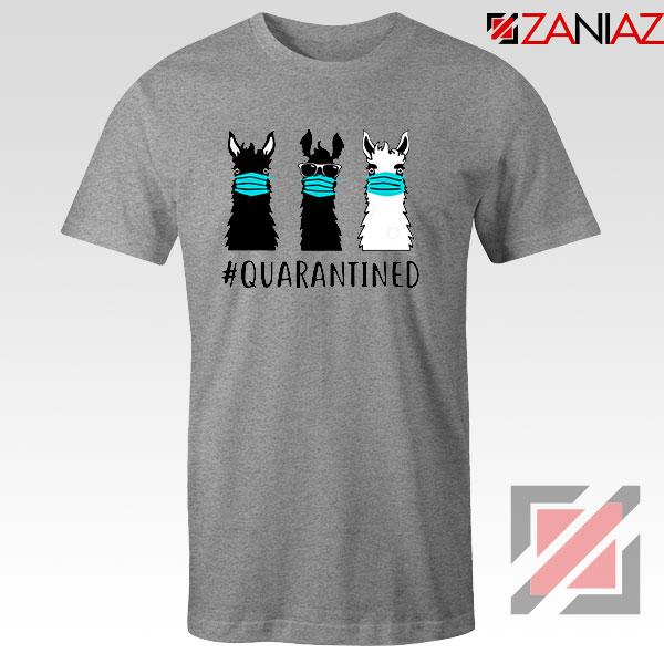 Llama Face Mask Sport Grey Tshirt