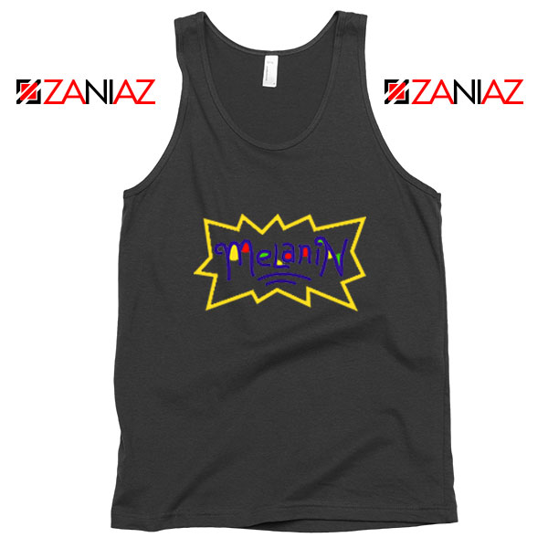 Melanin Rugrats Logo Black Tank Top