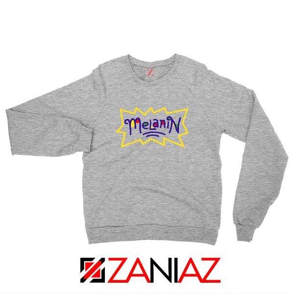 Melanin Rugrats Logo Sport Grey Sweatshirt