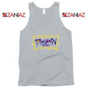 Melanin Rugrats Logo Sport Grey Tank Top