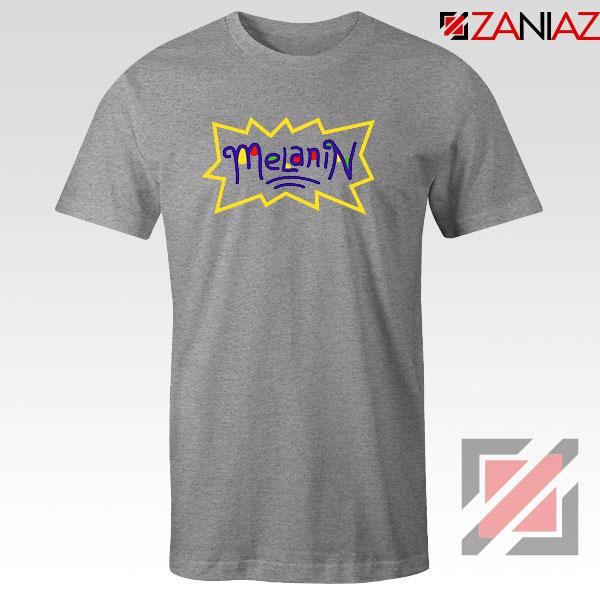 Melanin Rugrats Logo Sport Grey Tshirt
