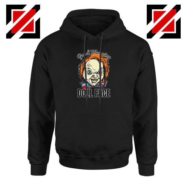 Morning Doll Face Black Hoodie