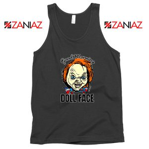 Morning Doll Face Black Tank Top