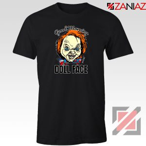Morning Doll Face Black Tshirt