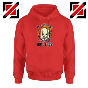 Morning Doll Face Red Hoodie