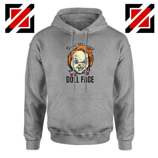 Morning Doll Face Sport Grey Hoodie