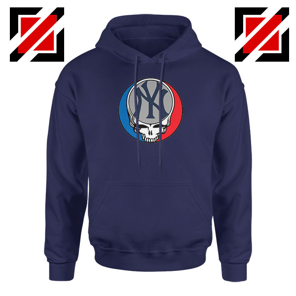NY Yankees Grateful Dead Navy Blue Hoodie