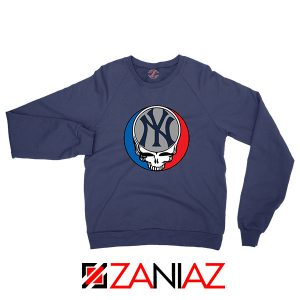 NY Yankees Grateful Dead Navy Blue Sweatshirt