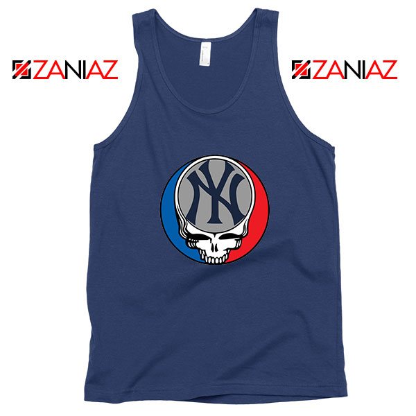 NY Yankees Grateful Dead Navy Blue Tank Top
