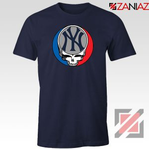 NY Yankees Grateful Dead Navy Blue Tshirt
