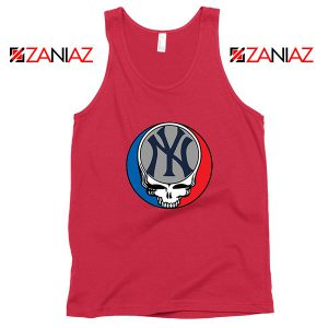 NY Yankees Grateful Dead Red Tank Top