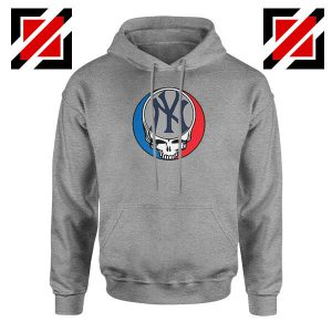 NY Yankees Grateful Dead Sport Grey Hoodie