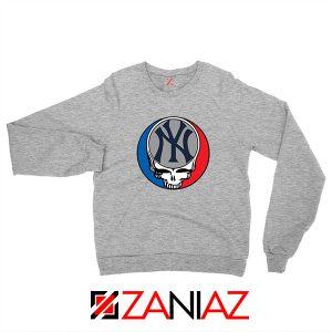 NY Yankees Grateful Dead Sport Grey Sweatshirt