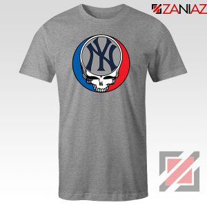 NY Yankees Grateful Dead Sport Grey Tshirt