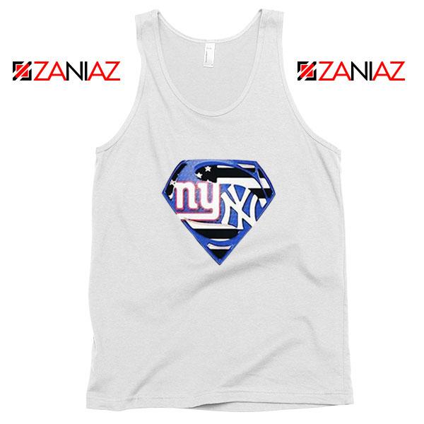 New York Yankees Superman White Tank Top