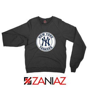 New York Yankees White Round Black Sweatshirt