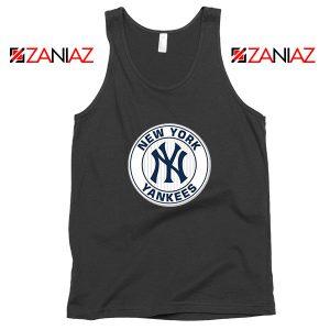 New York Yankees White Round Black Tank Top