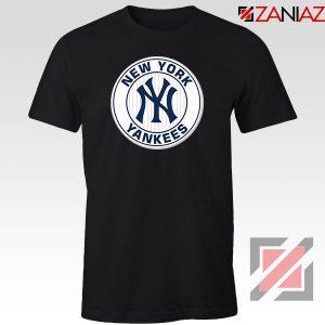 New York Yankees White Round Black Tshirt