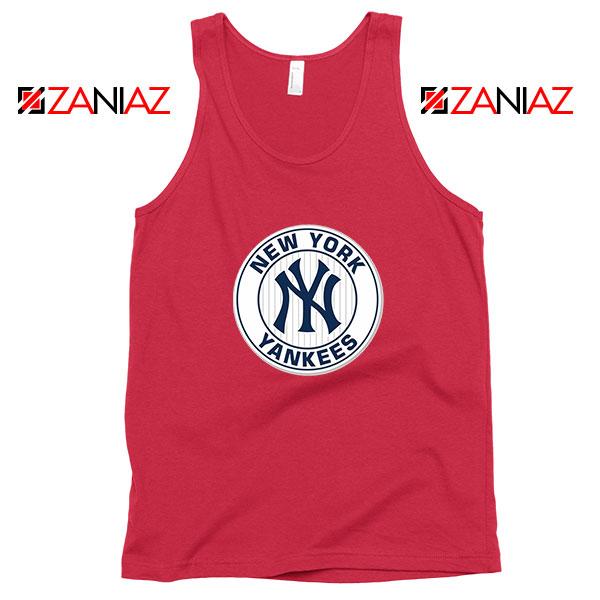 New York Yankees White Round Red Tank Top