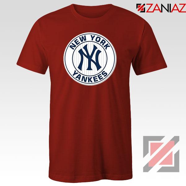New York Yankees White Round Red Tshirt