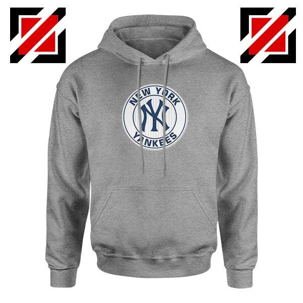 New York Yankees White Round Sport Grey Hoodie