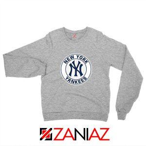 New York Yankees White Round Sport Grey Sweatshirt
