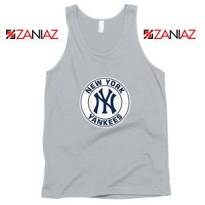 New York Yankees White Round Sport Grey Tank Top