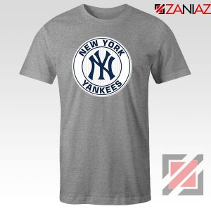 New York Yankees White Round Sport Grey Tshirt