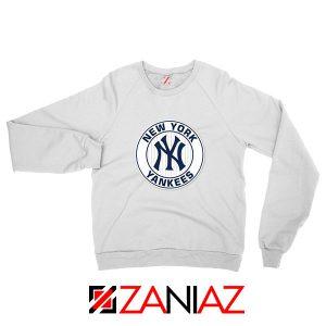 New York Yankees White Round Sweatshirt