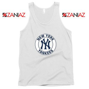 New York Yankees White Round Tank Top