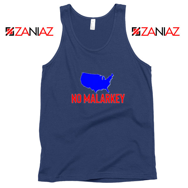 No Malarkey Joe Biden Navy Blue Tank Top