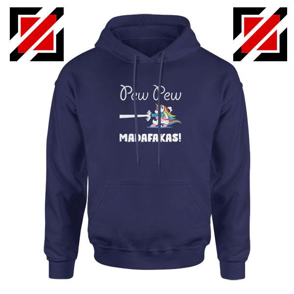 PewPewPew Unicorn Madafakas Navy Blue Hoodie