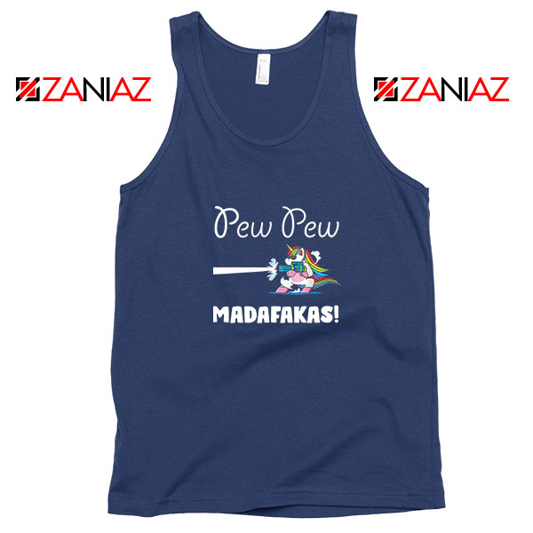 PewPewPew Unicorn Madafakas Navy Blue Tank Top