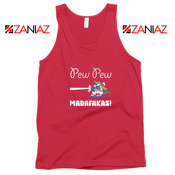 PewPewPew Unicorn Madafakas Red Tank Top