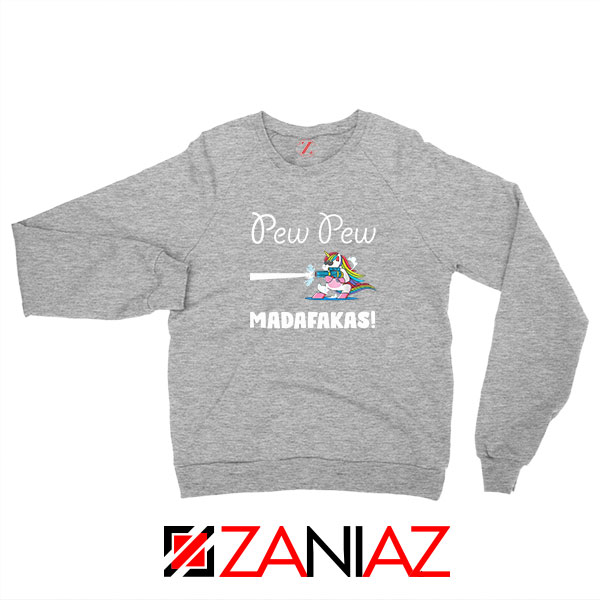 PewPewPew Unicorn Madafakas Sport Grey Sweatshirt