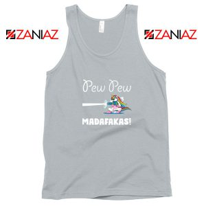 PewPewPew Unicorn Madafakas Sport Grey Tank Top