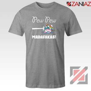 PewPewPew Unicorn Madafakas Sport Grey Tshirt
