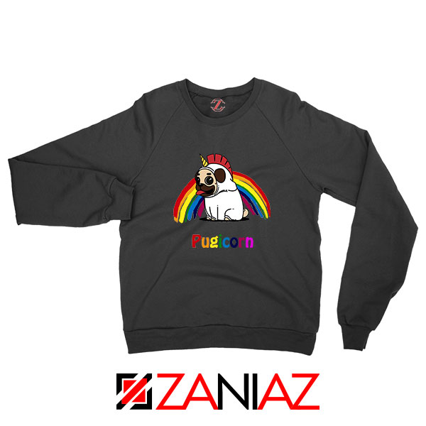 Pugcorn Black Sweatshirt