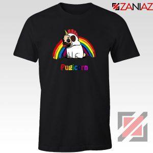 Pugcorn Black Tshirt