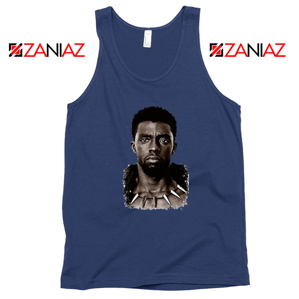 RIP Men of Wakanda Navy Blue Tank Top