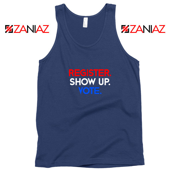 Register Show Up Vote Navy Blue Tank Top
