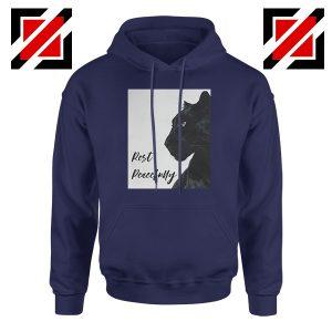 Rest Peacefully Black Panther Navy Blue Hoodie