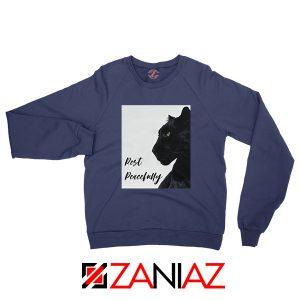 Rest Peacefully Black Panther Navy Blue Sweatshirt