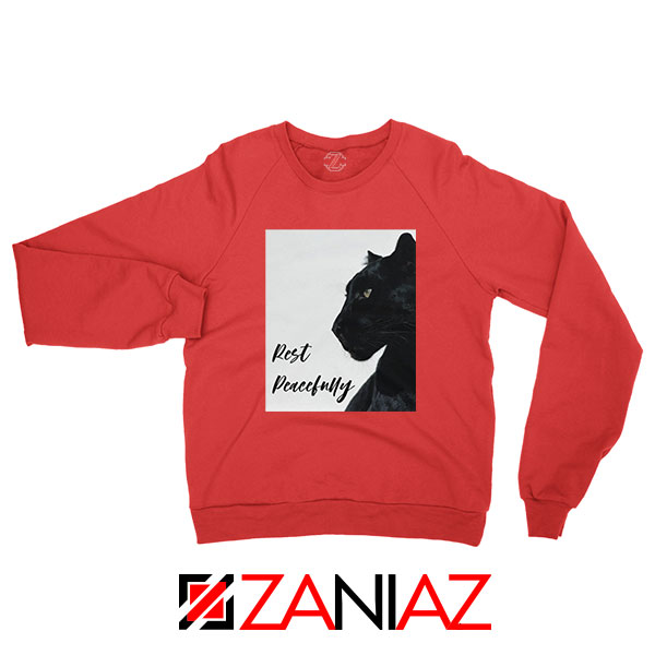 Rest Peacefully Black Panther Red Sweatshirt