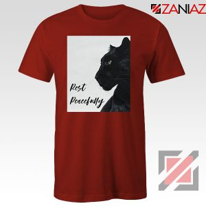 Rest Peacefully Black Panther Red Tshirt