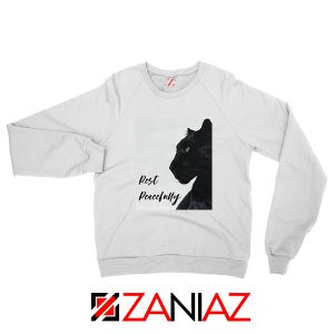 Rest Peacefully Black Panther White Sweatshirt