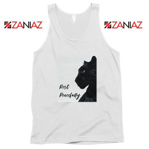 Rest Peacefully Black Panther White Tank Top
