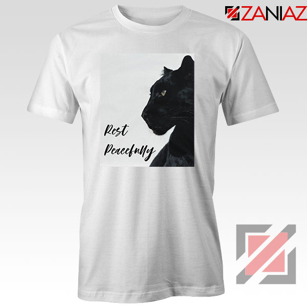 Rest Peacefully Black Panther White Tshirt