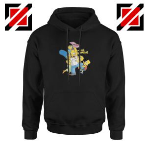 Simpson Family Loves Donuts Black Hoodie