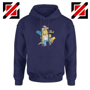 Simpson Family Loves Donuts Navy Blue Hoodie